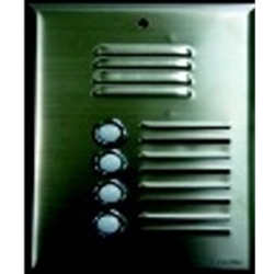 558SS2P 2 button stainless steel speaker panel