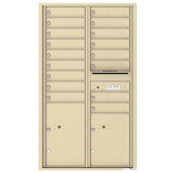 4C Horizontal mailbox 17 Compartment