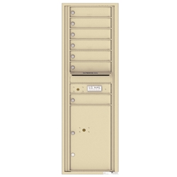 4C Horizontal mailbox 7 Compartment