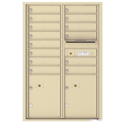 4C Horizontal mailbox 14 Compartment