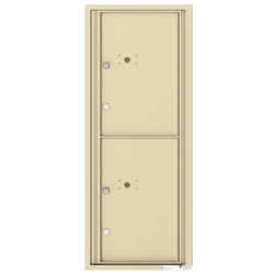 2 Parcel Doors / Parcel Lockers - 4C Recessed Mount versatile™ - Model 4C12S-2P