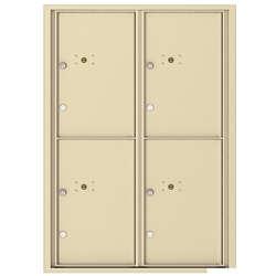 4 Parcel Doors / Parcel Lockers - 4C Recessed Mount versatile™ - Model 4C12D-4P
