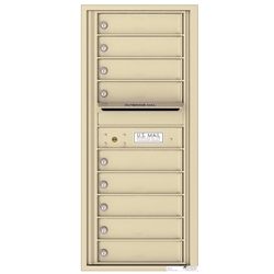 9 Tenant Doors with Outgoing Mail Compartment - 4C Recessed Mount versatile™ - Model 4C11S-09