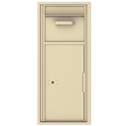 Collection / Drop Box Unit with Pull Down Hopper for Mail Collection - 4C Recessed Mount versatile™ - Model 4C11S-HOP