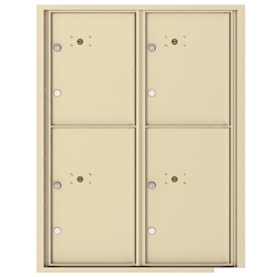 4 Parcel Doors / Parcel Lockers - 4C Recessed Mount versatile™ - Model 4C11D-4P