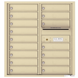 16 Tenant Doors with Outgoing Mail Compartment - 4C Recessed Mount versatile™ - Model 4C09D-16