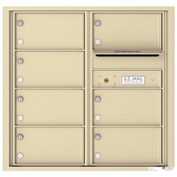 7 Tenant Doors with Outgoing Mail Compartment - 4C Recessed Mount versatile™ - Model 4C08D-07
