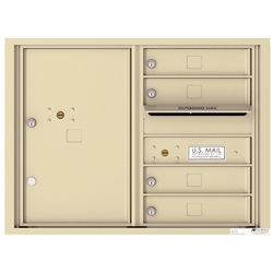 4 Tenant Doors with 1 Parcel Locker and Outgoing Mail Compartment - 4C Recessed Mount versatile™ - Model 4C06D-04