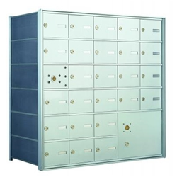 25 Tenant Doors with 1 Master Door and 1 Parcel Locker - 1400 Series USPS 4B+ Approved Horizontal Replacement Mailbox - Model 140065PLA