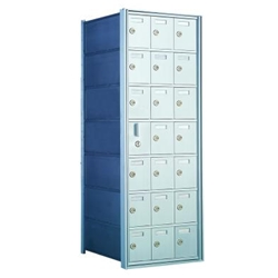 20 Tenant Doors with 1 Master Door - 1600 Series Front Loading, Recess-Mounted Private Delivery Mailboxes - Model 160073A
