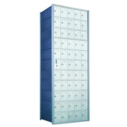 54 Tenant Doors with 1 Master Door - 1600 Series Front Loading, Recess-Mounted Private Delivery Mailboxes - Model 1600115A