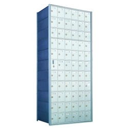 65 Tenant Doors with 1 Master Door - 1600 Series Front Loading, Recess-Mounted Private Delivery Mailboxes - Model 1600116A