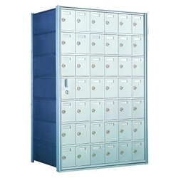 7 Doors High x 6 Doors Wide - Custom 1600 Series Front Loading, Recess-Mounted Private Delivery Mailboxes - Model 160076-SP