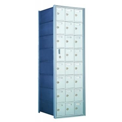 8 Doors High x 3 Doors Wide - Custom 1600 Series Front Loading, Recess-Mounted Private Delivery Mailboxes - Model 160083-SP