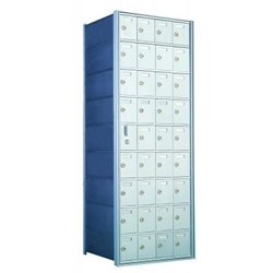 9 Doors High x 4 Doors Wide - Custom 1600 Series Front Loading, Recess-Mounted Private Delivery Mailboxes - Model 160094-SP