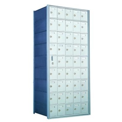 9 Doors High x 5 Doors Wide - Custom 1600 Series Front Loading, Recess-Mounted Private Delivery Mailboxes - Model 160095-SP