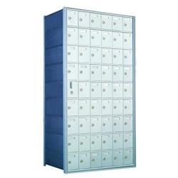 9 Doors High x 6 Doors Wide - Custom 1600 Series Front Loading, Recess-Mounted Private Delivery Mailboxes - Model 160096-SP