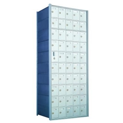 10 Doors High x 5 Doors Wide - Custom 1600 Series Front Loading, Recess-Mounted Private Delivery Mailboxes - Model 1600105-SP