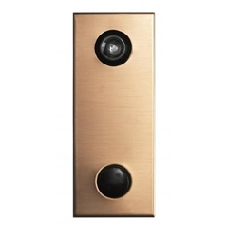 Mechanical Door Chime - Bronze - with Lens and Viewer Option - Model 685104-01
