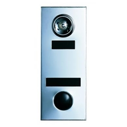 Mechanical Door Chime - Silver Chrome - with Wide-Angle Lens, Viewer Option, ID Plate and Name Plate - Model 686105-01