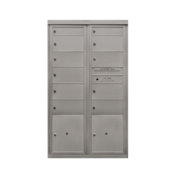 9 Double / 2 Single Tenant Doors / 2 Parcel Lockers - Two Column Front Loading - Model D2D9P2 - Max + Parcel Series - USPS Approved 4C Horizontal Mailbox
