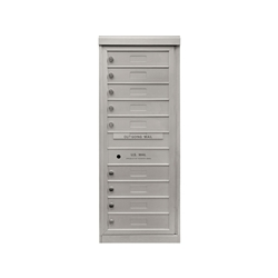 9 Single Height Tenant Doors - One Column Front Loading - Model S9 - Max Series - USPS Approved 4C Horizontal Mailbox