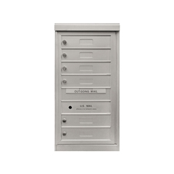 6 Single Height Tenant Doors - One Column Front Loading - Model S6 - ADA 54 Series - USPS Approved 4C Horizontal Mailbox