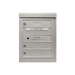 3 Single Height Tenant Doors - One Column Front Loading - Model S3 - Flex Series - USPS Approved 4C Horizontal Mailbox