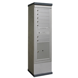 7 Tenant Doors and 1 Parcel Locker - Model CE1S-S7P1 - CDS Collection - USPS Approved Outdoor Mailbox Kiosk