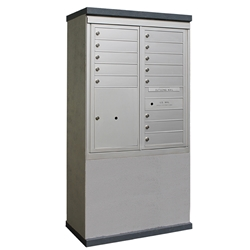 13 Tenant Doors and 1 Parcel Locker - Model CE1D-D13P1 - CDS Collection - USPS Approved Outdoor Mailbox Kiosk