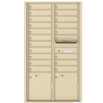 Florence 4C mailboxes are USPS Approved and meet or exceed STD-4C requirements for new construction and major renovations. They are also ideal for private delivery applications. 20 Tenant Doors with 2 Parcel Lockers and Outgoing Mail Compartment - 4C Recessed Mount versatile™ - Model 4C16D-20