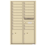 Florence 4C mailboxes are USPS Approved and meet or exceed STD-4C requirements for new construction and major renovations. They are also ideal for private delivery applications. 18 Tenant Doors with 2 Parcel Lockers and Outgoing Mail Compartment - 4C Recessed Mount versatile™ - Model 4C15D-18