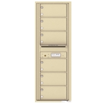 4C Horizontal mailbox 6 Compartment