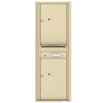 4C Horizontal mailbox 2 Parcel Lockers