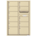 11 Tenant Doors and Outgoing Mail Compartment - 4C Recessed Mount versatile™ - Model 4C13D-11
