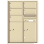 5 Tenant Doors with 2 Parcel Lockers and Outgoing Mail Compartment - 4C Recessed Mount versatile™ - Model 4C12D-05