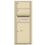 2 Tenant Doors with 1 Parcel Locker and Outgoing Mail Compartment - 4C Recessed Mount versatile™ - Model 4C12S-02