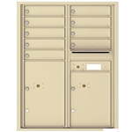 9 Tenant Doors with 2 Parcel Lockers and Outgoing Mail Compartment - 4C Recessed Mount versatile™ - Model 4C11D-09