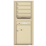 4 Tenant Doors with 1 Parcel Locker and Outgoing Mail Compartment - 4C Recessed Mount versatile™ - Model 4C11S-04