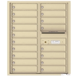 18 Tenant Doors with Outgoing Mail Compartment - 4C Recessed Mount versatile™ - Model 4C10D-18