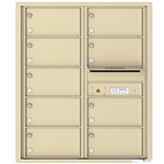 9 Tenant Doors with Outgoing Mail Compartment - 4C Recessed Mount versatile™ - Model 4C10D-09
