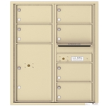 6 Tenant Doors with 1 Parcel Locker and Outgoing Mail Compartment - 4C Recessed Mount versatile™ - Model 4C10D-06