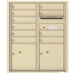 Florence 4C mailboxes are USPS Approved and meet or exceed STD-4C requirements for new construction and major renovations. They are also ideal for private delivery applications. 10 Tenant Doors with 2 Parcel Lockers and Outgoing Mail Compartment - 4C Recessed Mount versatile™ - Model 4CADD-10