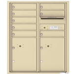 8 Tenant Doors with 2 Parcel Lockers and Outgoing Mail Compartment - 4C Recessed Mount versatile™ - Model 4CADD-08