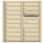 15 Tenant Doors with Outgoing Mail Compartment - 4C Recessed Mount versatile™ - Model 4C09D-15