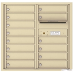 Florence 4C mailboxes are USPS Approved and meet or exceed STD-4C requirements for new construction and major renovations. They are also ideal for private delivery applications. 13 Tenant Doors with Outgoing Mail Compartment - 4C Recessed Mount versatile™ - Model 4C08D-13