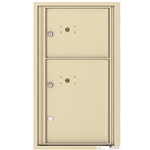 2 Parcel Doors / Parcel Lockers - 4C Recessed Mount versatile™ - Model 4C08S-2P