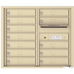 12 Tenant Doors with Outgoing Mail Compartment - 4C Recessed Mount versatile™ - Model 4C07D-12