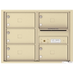 5 Tenant Doors with Outgoing Mail Compartment - 4C Recessed Mount versatile™ - Model 4C06D-05X