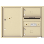 2 Tenant Doors with 1 Parcel Locker and Outgoing Mail Compartment - 4C Recessed Mount versatile™ - Model 4C06D-02